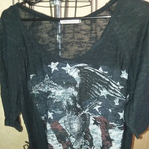 Burnout style american shirt